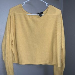 Forever 21 yellow long sleeve crop top